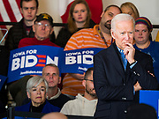 23 NOVEMBER 2019 - DES MOINES, IOWA: Former Vice President JOE BIDEN at a campaign event in Des Moines. Vice President Biden announced that Tom Vilsack, the former Democratic governor of Iowa, endorsed him. Biden and Vilsack appeared with their wives at an event in Des Moines. Iowa hosts the first presidential selection event of the 2020 election cycle. The Iowa caucuses are on February 3, 2020.          PHOTO BY JACK KURTZ