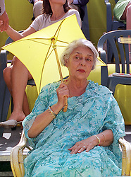 The RAJMATA OF JAIPUR at a polo match in West Sussex on 18th July 1999.MUH 91 wolo