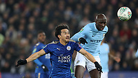 Football - 2017 / 2018 Carabao (EFL/League) Cup - Quarter-Final: Leicester City vs. Manchester City<br /> <br /> Shiniji Okazaki of Leicester City and Eliaquim Mangala of Manchester City at the King Power Stadium.<br /> <br /> COLORSPORT/LYNNE CAMERON