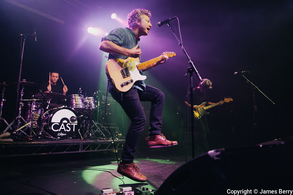 Cast perform live at Electric Brixton, London on Thursday 18 December 2014. Picture shows John Power, Keith O'Neill and Jay Lewis.