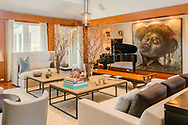 You can hear and feel the music in this living room.  Sagaponack, Long Island, New York