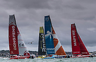 The Seven Star Triple Crown as part of Lendy Cowes week 2017. The Volvo Ocean Race VOR65's cross the Royal Squadron start line<br /> Credit Lloyd Images