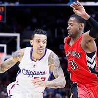 27 December 2014: Los Angeles Clippers forward Matt Barnes (22) drives past Toronto Raptors forward Terrence Ross (31) during the Toronto Raptors 110-98 victory over the Los Angeles Clippers, at the Staples Center, Los Angeles, California, USA.