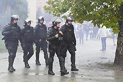 Police before the football match between NK Maribor and NK Olimpija in 3rd Round of Prva liga Telekom Slovenije 2019/20, on July 28, 2019 in Ljudski vrt, Maribora Sobota, Slovenia. Photo by Milos Vujinovic / Sportida