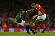 George North of Wales is tackled by Rob Kearney of Ireland. RBS Six Nations 2017 international rugby, Wales v Ireland at the Principality Stadium in Cardiff , South Wales on Friday 10th March 2017.  pic by Andrew Orchard, Andrew Orchard sports photography