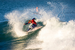 Kolohe andino (USA) is eliminated from the 2018 Corona Open J-Bay with an equal 13th finish after placing second in Heat 4 of Round 3 at Supertubes, Jeffreys Bay, South Africa.