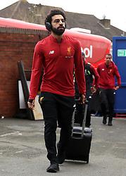 Liverpool's Mohamed Salah arrives prior to the Premier League match at Selhurst Park, London.
