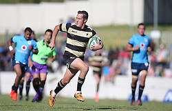 Theuns Kotze of Boland heads to the try line during the Currie Cup premier division match between the Boland Cavaliers and The Blue Bulls held at Boland Stadium, Wellington, South Africa on the 23rd September 2016<br /> <br /> Photo by:   Shaun Roy/ Real Time Images