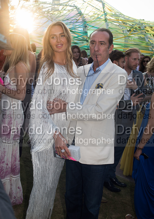 MASHA MARKOVA; ROBERT HANSON, Serpentine's Summer party co-hosted with Christopher Kane. 15th Serpentine Pavilion designed by Spanish architects Selgascano. Kensington Gardens. London. 2 July 2015.