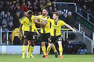 Burton Albion forward Lucas Akins (10) scores a goal and celebrates 1-0 during the EFL Sky Bet League 1 match between Burton Albion and Wycombe Wanderers at the Pirelli Stadium, Burton upon Trent, England on 26 December 2018.