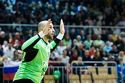 Kastelic Urh of Slovenia during friendly handball match between national teams Slovenia and Montenegro on 4th Januar, 2020, Trbovlje, Slovenia. Photo By Grega Valancic / Sportida