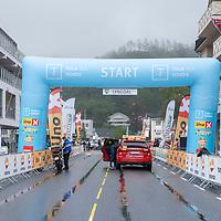 Før starten i Lyngdal av Tour of Norway sykkelritt etappe 2: Lyngdal - Kristiansand.