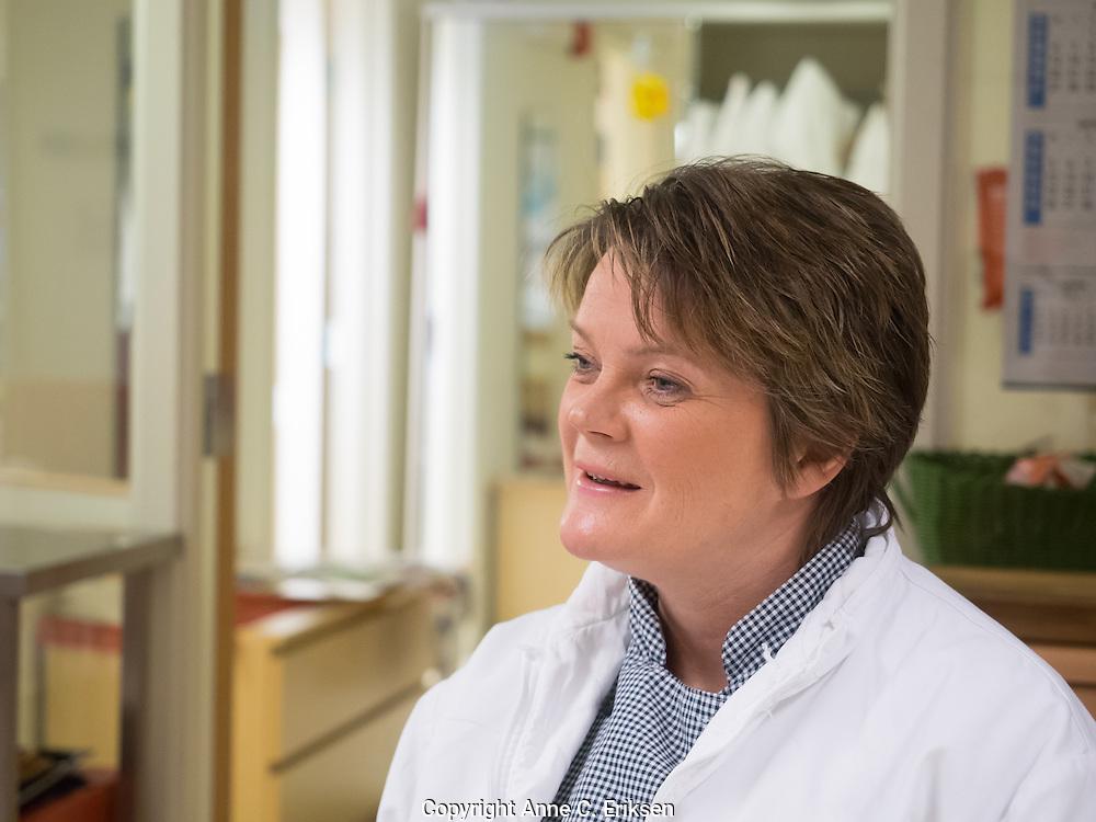 Helsefagarbeideren. Foto: Anne C. Eriksen