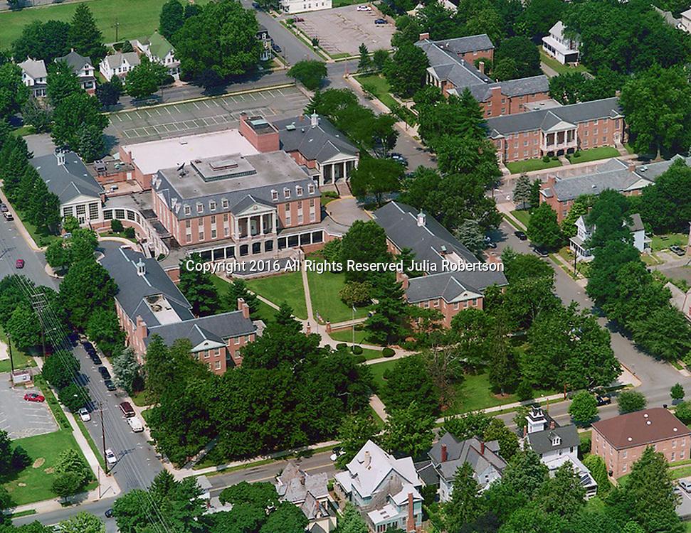 Aerial views of Wesley College, Dover Delaware