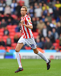Stoke City's Peter Crouch joins the game