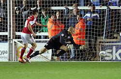 Bristol City's Sam Baldock scores the second goal - Photo mandatory by-line: Joe Dent/JMP - Mobile: 07966 386802 11/03/2014 - SPORT - FOOTBALL - Peterborough - London Road Stadium - Peterborough United v Bristol City - Sky Bet League One