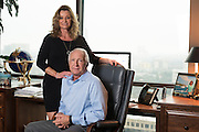 Eric and Deborah Suder pose for a photograph at their home in Dallas, Texas on January 21, 2016. (Cooper Neill for The New York Times)
