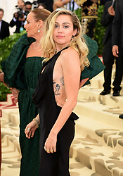 Miley Cyrus attending the Metropolitan Museum of Art Costume Institute Benefit Gala 2018 in New York, USA. PRESS ASSOCIATION Photo. Picture date: Picture date: Monday May 7, 2018. See PA story SHOWBIZ MET Gala. Photo credit should read: Ian West/PA Wire