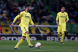 February 14, 2019 - Lisbon, Portugal - Villarreal's defender Alvaro Gonzalez in action during the UEFA Europa League Round of 32 First Leg football match Sporting CP vs Villarreal CF at Alvalade stadium in Lisbon, Portugal on February 14, 2019. (Credit Image: © Pedro Fiuza/NurPhoto via ZUMA Press)