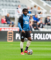 Football - 2021 / 2022 - Pre-Season Friendly - Newcastle United vs Norwich City - St James Park - Saturday 7th August 2021<br /> <br /> Allan Saint-Maximin of Newcastle United is seen during the warm up<br /> <br /> Credit: COLORSPORT/Bruce White