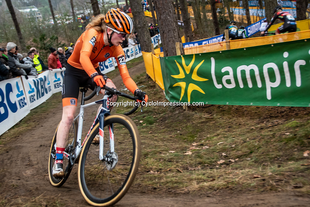 26-12-2019: Cycling: CX Worldcup: Heusden-Zolder: Dutch youngster Puck Pieterse in action