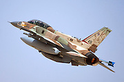 Israeli Air Force (IAF) F-16I Fighter jet in flight