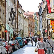 Cobblestone street in Prague