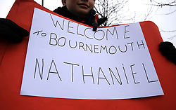 Signage welcoming new signing Bournemouth's Nathaniel Clyne outside the ground before the Emirates FA Cup, third round match at the Vitality Stadium, Bournemouth.