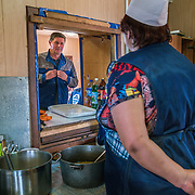 Volgodeminoil canteen at the drilling rig outside Volgograd.