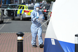 © Licensed to London News Pictures. 30/06/2019. London UK: Police and Forensic officers at the scene of a fatal stabbing in East Ham in Newham, east London. Emergency services were call at around 11pm to Wakefield street where a male in his late twenties was found with fatal stab wounds  , Photo credit: Steve Poston/LNP
