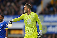 Everton Goalkeeper Maarten Stekelenburg shouts instructions. Premier league match, Everton v Swansea city at Goodison Park in Liverpool, Merseyside on Saturday 19th November 2016.<br /> pic by Chris Stading, Andrew Orchard sports photography.