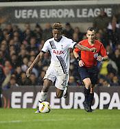 Tottenham Hotspur midfielder Joshua Onomah dribbling during the Europa League match between Tottenham Hotspur and Monaco at White Hart Lane, London, England on 10 December 2015. Photo by Matthew Redman.