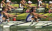 11/07/03/03 .2003 FISA Rowing World Cup - Lucerne.- Switzerland.GBR LW4X Bow Tegren Rooks, Jo Nitsch, Jo Hammond and Sarah Birch Rowing Course, Lake Rottsee, Lucerne, SWITZERLAND. [Mandatory Credit: Peter Spurrier:intersport Images]