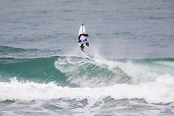 Eric Geiselman (USA) surfing in Qualifying Round Heat 2 of the WSL Redbull Airborne event in Hossegor, France.