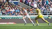 "Twickenham, Surrey United Kingdom. Englands, James RODWELL, during the Pool D game England vs Australia at the ""2017 HSBC London Rugby Sevens"",  Saturday 20/05/2017 RFU. Twickenham Stadium, England    <br /> <br /> [Mandatory Credit Peter SPURRIER/Intersport Images]"
