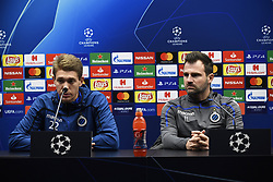 December 10, 2018 - Bruges, Belgique - BRUGGE, DECEMBER 10 :I van Leko head coach of Club Brugge and  Ethan Horvath goalkeeper of Club Brugge pictured during press conference the day before the UEFA Champions League group A match between Club Brugge KV and Atletico Madrid on December 10, 2018 in Brugge, 10/12/2018 (Credit Image: © Panoramic via ZUMA Press)