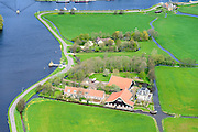 Nederland, Zuid-Holland, Warmond, 09-04-2014; Polder Boterhuis. Historische boerderij en landhuis.<br /> Historic farmhouse and mansion, polder near Leyden.<br /> luchtfoto (toeslag op standard tarieven);<br /> aerial photo (additional fee required);<br /> copyright foto/photo Siebe Swart