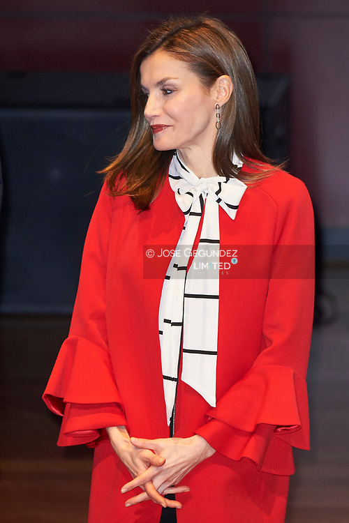Queen Letizia of Spain attended the delivery of Accreditation of the 7th edition of 'Honorary Ambassadors of the Spain Brand' at Reina Sofia Museum on March 14, 2017 in Madrid<br /> Today marks 1000 days of the reign of  King Felipe VI of Spain and Queen Letizia of Spain
