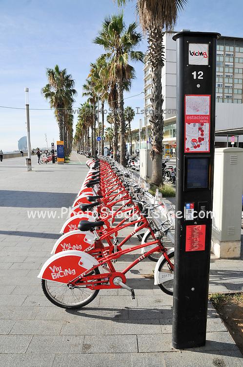 Barcelona, Self service rent a bike station