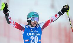 29.12.2014, Hohe Mut, Kühtai, AUT, FIS Ski Weltcup, Kühtai, Slalom, Damen, 2. Durchgang, im Bild Carmen Thalmann (AUT) // Carmen Thalmann of Austria reacts after 2nd run of Ladies Giant Slalom of the Kuehtai FIS Ski Alpine World Cup at the Hohe Mut Course in Kuehtai, Austria on 2014/12/29. EXPA Pictures © 2014, PhotoCredit: EXPA/ Erich Spiess