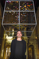 "© Licensed to London News Pictures. 13/09/2019. LONDON, UK. Sam Jacobs, designer of ""Sea Things"" on display at the V&A museum as part of London Design Festival.  The festival, now in its 17th year, includes installations across the capital and runs 14 to 22 September 2019.  Photo credit: Stephen Chung/LNP"