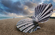 BY THE SEA ALDEBURGH - colour photo art by Paul Williams of Maggi Hambling scallop sculpture, Aldeburgh, Suffolk, taken 2005-2009. .<br /> <br /> Visit our ENGLAND PHOTO COLLECTIONS for more photos to download or buy as wall art prints https://funkystock.photoshelter.com/gallery-collection/Pictures-Images-of-England-Photos-of-English-Historic-Landmark-Sites/C0000SnAAiGINuEQ .<br /> <br /> Visit our REPORTAGE & STREET PEOPLE PHOTO ART PRINT COLLECTIONS for more wall art photos to browse https://funkystock.photoshelter.com/gallery-collection/People-Photo-art-Prints-by-Photographer-Paul-Williams/C0000g1LA1LacMD8