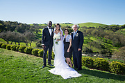 Bride and groom celebrate their estate wedding at Willow Heights Mansion in Morgan Hill, California, on March 12, 2017. (Stan Olszewski/SOSKIphoto)