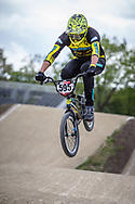 #595 (MOLINA Gonzalo) ARG during practice at Round 3 of the 2019 UCI BMX Supercross World Cup in Papendal, The Netherlands