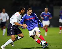 Fotball<br /> Foto: Dppi/Digitalsport<br /> NORWAY ONLY<br /> <br /> FOOTBALL - UNDER 21 UEFA EUROPEAN CHAMPIONSHIP 2004/2006 - 1/8 FINAL - 2ND LEG - FRANCE v ENGLAND - 15/11/2005 <br /> <br /> EM-KVALIFISERING U21 FRANKRIKE v ENGLAND<br /> <br /> ANTHONY LE TALLEC (FRA) / ANTON FERDINAND (ENG)