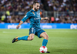 August 13, 2017 - Barcelona, Catalonia, Spain - Real Madrid defender CARVAJAL during the Spanish Super Cup Final 1st leg between FC Barcelona and Real Madrid at the Camp Nou stadium in Barcelona (Credit Image: © Matthias Oesterle via ZUMA Wire)