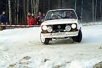 Motorsport, Rally Solør 2000. Kjetil Oppi / Per Erik Engebretsen. Ford Escort kl. 12.  Foto: Digitalsport, Jan A. Holshagen