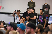 DALLAS, TX - MAY 11:  Fans look on while Joanna Jedrzejczyk holds an open workout for the fans and media at Mohler MMA - Brazilian Jiu-Jitsu & Boxing on May 11, 2017 in Dallas, Texas. (Photo by Cooper Neill/Zuffa LLC/Zuffa LLC via Getty Images) *** Local Caption ***