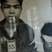 Picture of prisonners of S21 camp who were captured, tortured and killed by the Khmer Rouge regime. Phnom Penh, Cambodia - March 28th 2009.