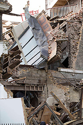 © Licensed to London News Pictures. 03/11/2020. London, UK. A house in Durham Place lies in ruins after it collapsed in Chelsea, central London. Photo credit: Marcin Nowak/LNP